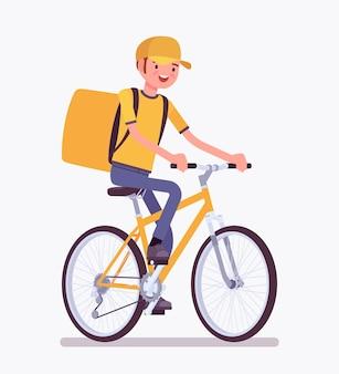 Ragazzo delle consegne di biciclette