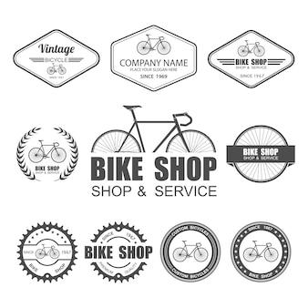 Modello di set di etichette per biciclette
