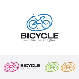 Modello di logo vettoriale bicicletta