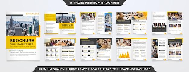 Modello di brochure bifold layout minimalista stile premium