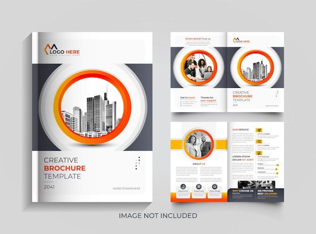 Bifold modello di progettazione brochure aziendale moderna