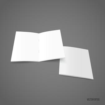 Carta modello bianca bifold