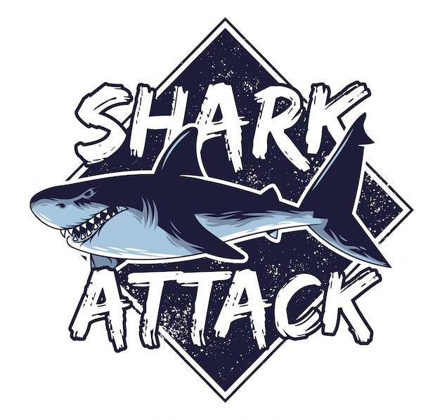 Il grande predatore arrabbiato pericoloso affamato attacca gli animali predatore il pesce nel mare di oceano profondo california hawai