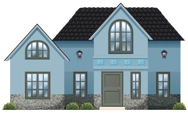 Una grande casa blu