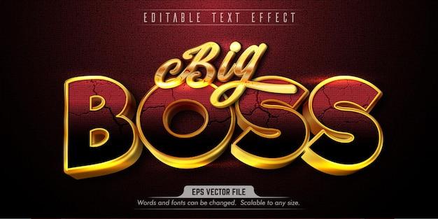 Effetto di testo modificabile in stile big boss
