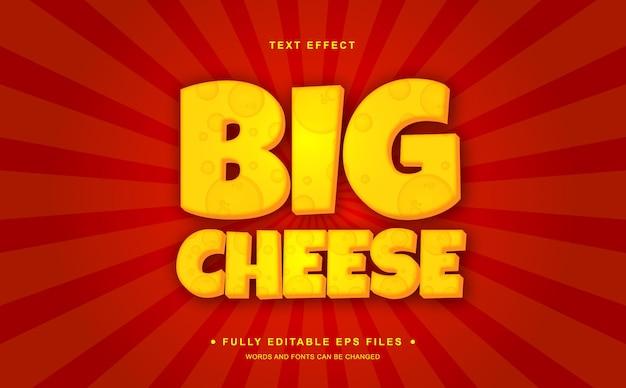 Effetto testo modificabile grande formaggio cheese