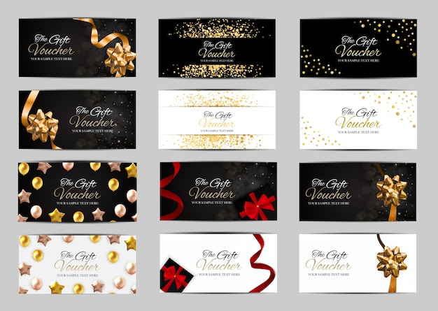 Grande raccolta di membri di lusso, modello di carta regalo per il tuo business
