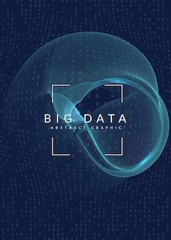 Sfondo astratto di grandi quantità di dati