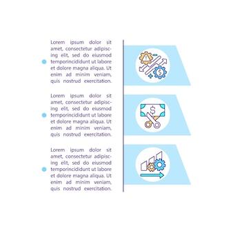 Icona di concetto di analisi dei dati di grandi dimensioni con testo. modello di pagina ppt per l'autenticazione e il rilevamento delle frodi. tecnologia blockchain. brochure, rivista, elemento di design opuscolo con illustrazioni lineari