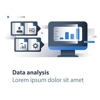 Illustrazione di analisi di grandi quantità di dati