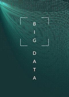 Sfondo di grandi quantità di dati. tecnologia per la visualizzazione, intelligenza artificiale, deep learning e quantum computing