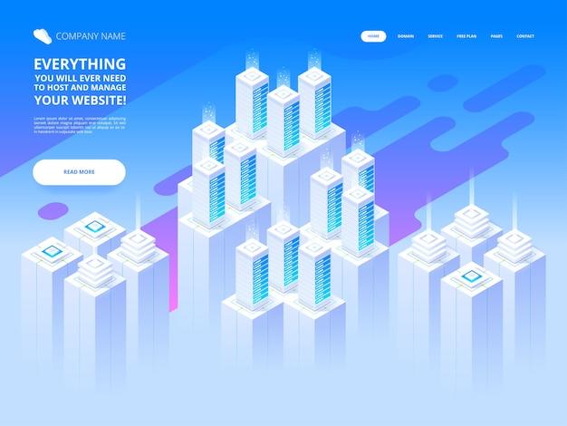 Big data center e tecnologia di archiviazione cloud