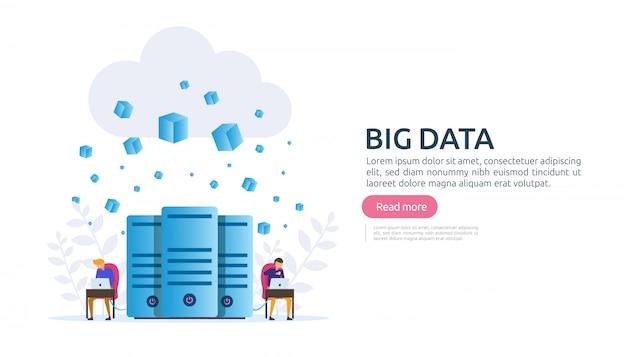 Grande concetto di servizio di analisi di analisi del database della nuvola di dati