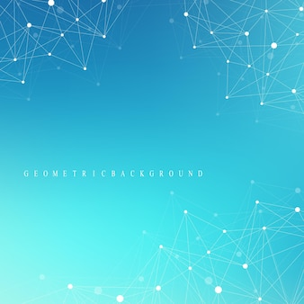 Complesso di grandi dati. comunicazione grafica di sfondo astratto. contesto prospettico di profondità. array minimo con linee e punti composti. visualizzazione dei dati digitali. illustrazione vettoriale grandi dati.