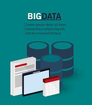 Grande tecnologia digitale di documenti di dati