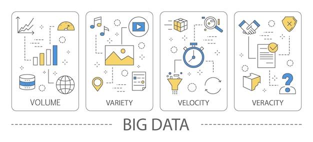 Illustrazione di grandi quantità di dati.