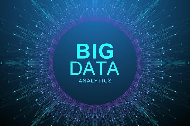 Sfondo astratto di visualizzazione di grandi dati