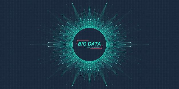 Visualizzazione di big data algoritmi di machine learning di big data visualizzazione di array di dati informazioni visive...