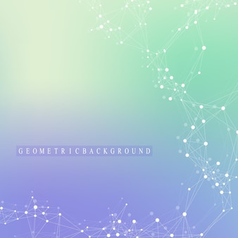 Visualizzazione di grandi dati. comunicazione grafica di sfondo astratto. contesto prospettico. matrice minima. visualizzazione dei dati digitali. rappresentare il significato globale, internazionale. illustrazione vettoriale.
