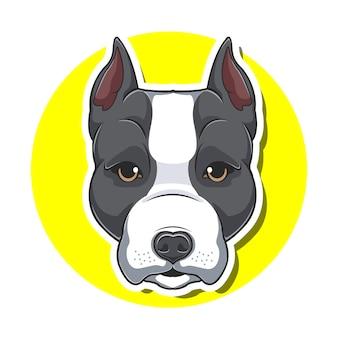 Cartone animato cane testa grande