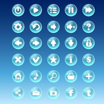 Grande kit di pulsanti con immagini diverse
