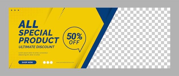 Promozione del modello di social media per la copertina di banner di grande vendita