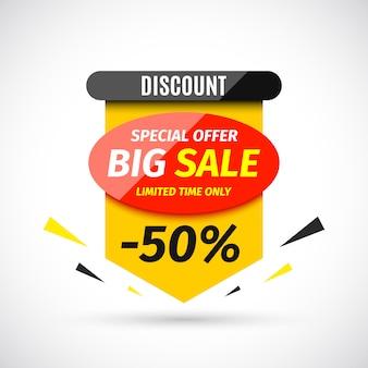 Banner di grande vendita. illustrazione.