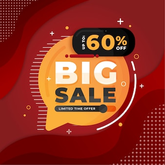 Grande promozione del modello dell'insegna di sconto di vendita