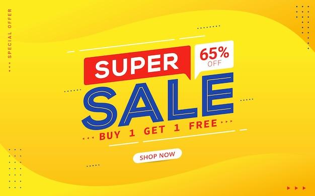 Banner di promozione sconto grande vendita