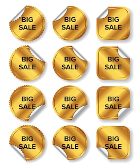 Collezione di etichette di grande vendita