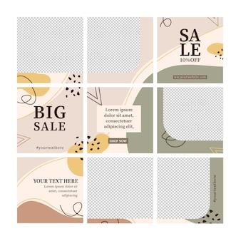 Grande modello di feed di puzzle di instagram post vendita