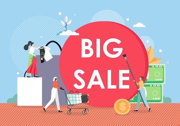 Modello di banner di promozione di grande vendita.