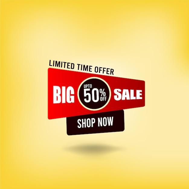 Modello promozionale di grande vendita per il tuo business vector