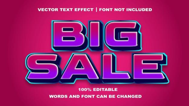 Grande stile di vendita effetto di testo modificabile