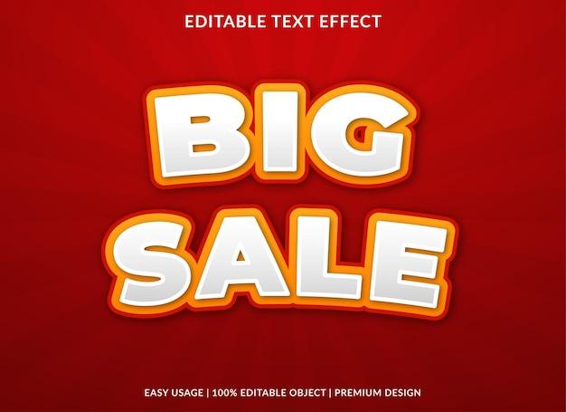 Modello di sfondo effetto testo grande vendita vettore premium