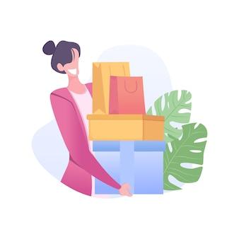 Grande vendita con scatole di contenimento della ragazza