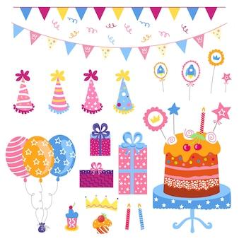 Grande set di elementi di compleanno