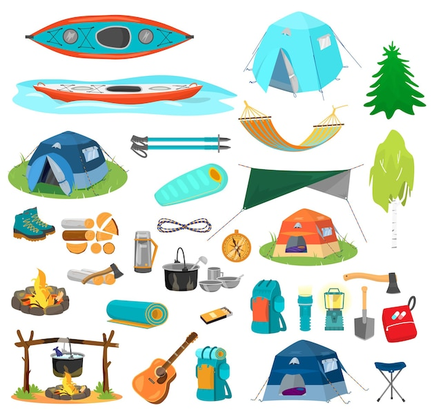 Grande set di attrezzatura da trekking