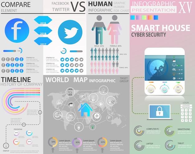 Grande set di elementi infographic