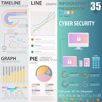 Grande set di infografica