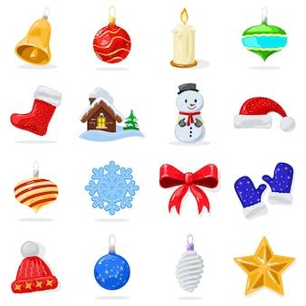 Set grande con palline lucide decorazioni natalizie