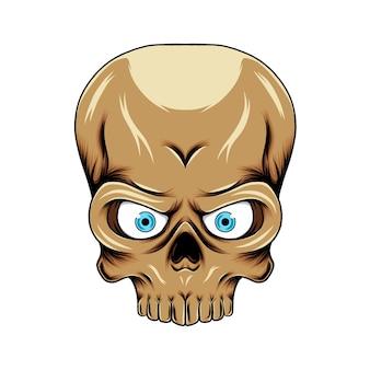 Grande testa del cranio con la grande fronte e grandi occhi per l'ispirazione