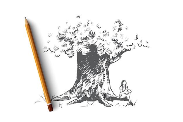 Illustrazione di concetto di grande albero