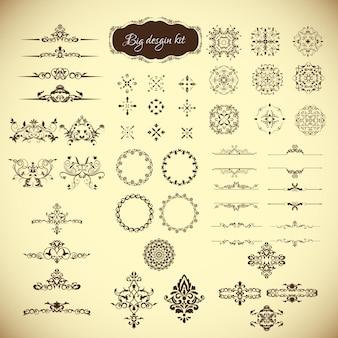 Grande collezione di design ornamentale vintage