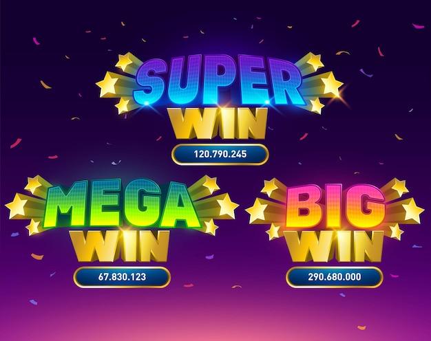 Big win slot concept poker carte da gioco slot e roulette