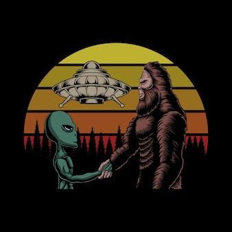 Bigfoot e cospirazione aliena