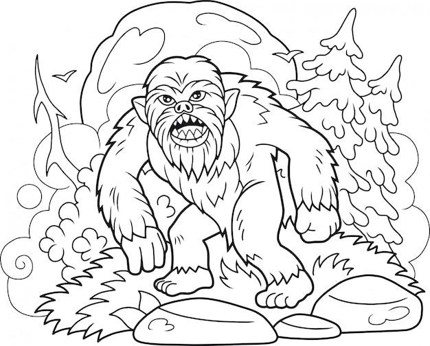 Libro da colorare bigfoot