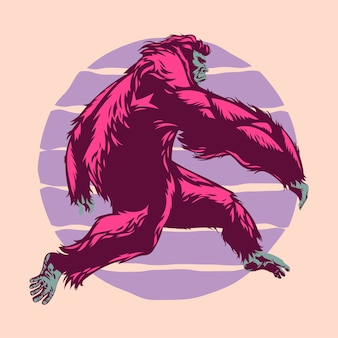 Bigfoot run with sunset