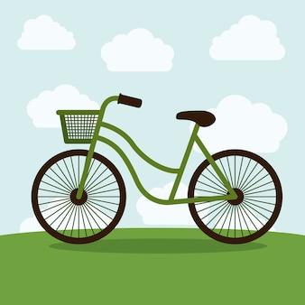 Icona bici e nuvole