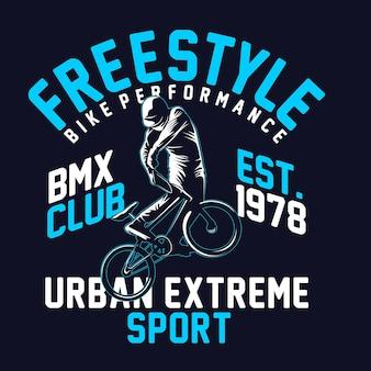 Grafica della maglietta bike freestyle